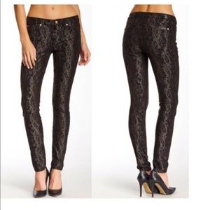 7 For All Mankind Gwenevere Snake Metallic Print